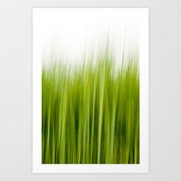 Grass wipe --- Gras-Wusch Art Print