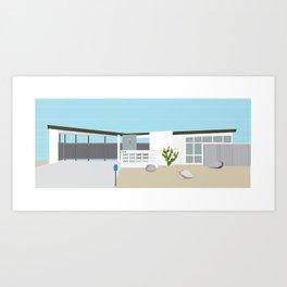 Mid Century Modern Palm Springs House Number 7 Art Print