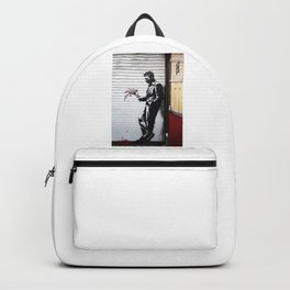 Banksy, Man with flowers Backpack