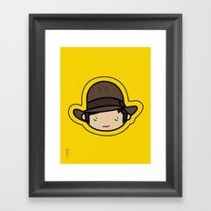 Indiana Jones Kawaii Framed Art Print