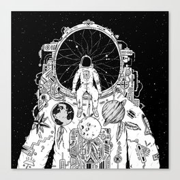 The Dreamer (B/W) Canvas Print