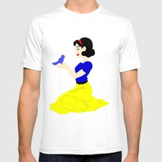 Snow White SMALL White Mens Fitted Tee