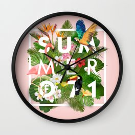 SUMMER of 71 Wall Clock