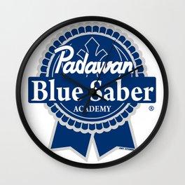 Padawan Blue Saber Academy Wall Clock
