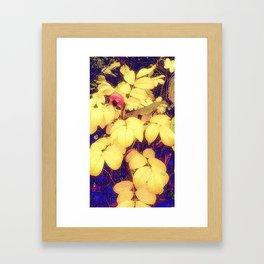 Autumn Berry & Leaves  Framed Art Print