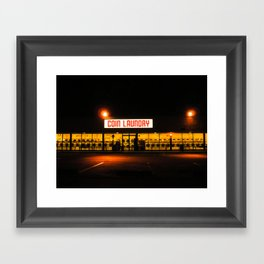 Coin Laundry Framed Art Print