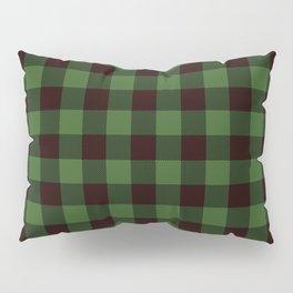 Green Plaid Pillow Sham