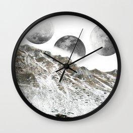 Three Moons Wall Clock