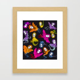 colorful hybrid witches Framed Art Print