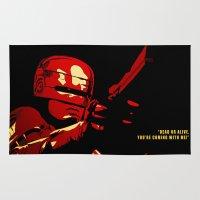 robocop Area & Throw Rugs featuring Robocop - Alternative poster by Lorenzo Imperato