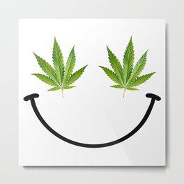 Weed Smile Metal Print