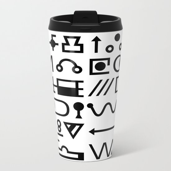Blood On The Wall Metal Travel Mug