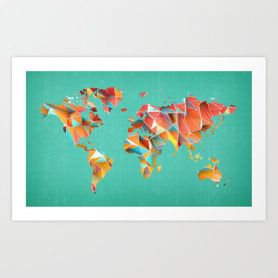 Geometric Map Art Print
