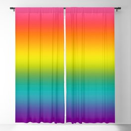 Pride Rainbow Flag Gradient Blackout Curtain