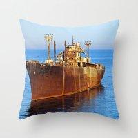 wreck it ralph Throw Pillows featuring Wreck by Roxana Lazăr