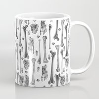 bones Mugs featuring Bones by Deborah Panesar Illustration