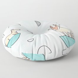 peninsular pronghorn Floor Pillow