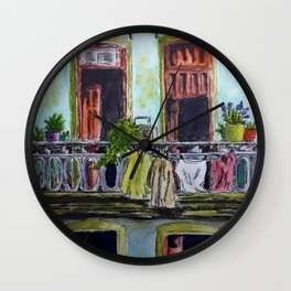 Cuban Balcony Wall Clock