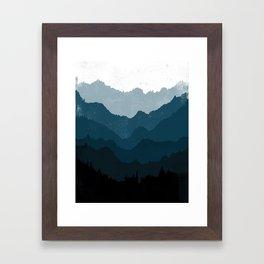 Mists No. 6 - Ombre Blue Ridge Mountains Art Print  Framed Art Print