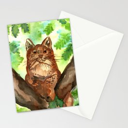 Lynx in the Forest Stationery Cards