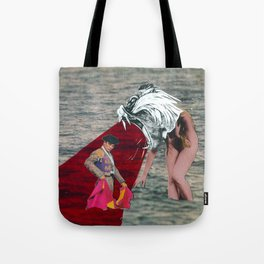 Against the bull fighter Tote Bag