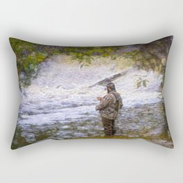 Trout fishing Rectangular Pillow