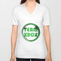 xbox V-neck T-shirts featuring Team XBox by Bradley Bailey