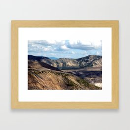 Lake and mountain view near Johnston's Ridge, either Coldwater Lake or Clearwater Lake Framed Art Print