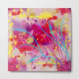 Wild sprouts in CMYK Metal Print