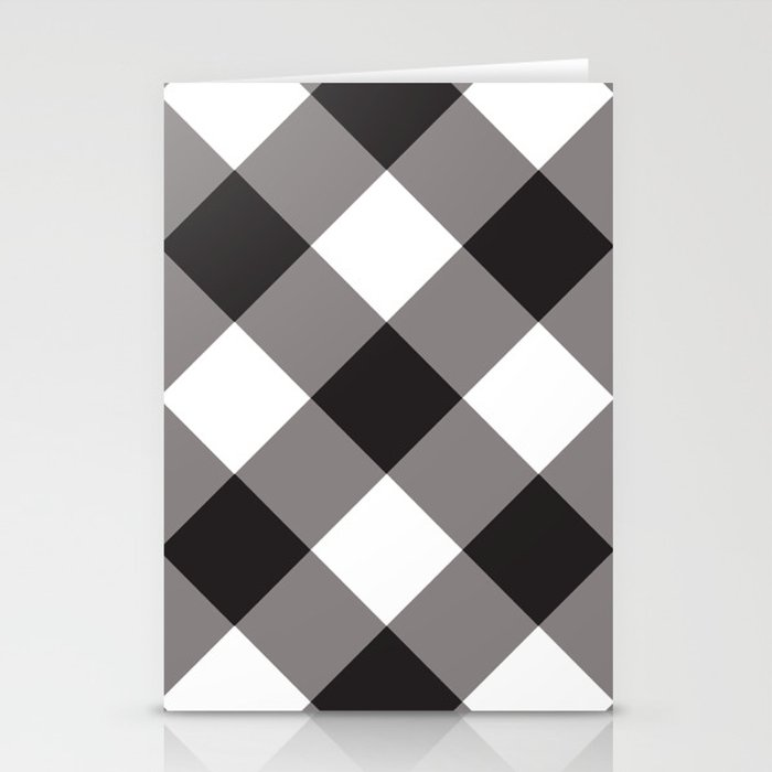 Gingham - Black Stationery Cards