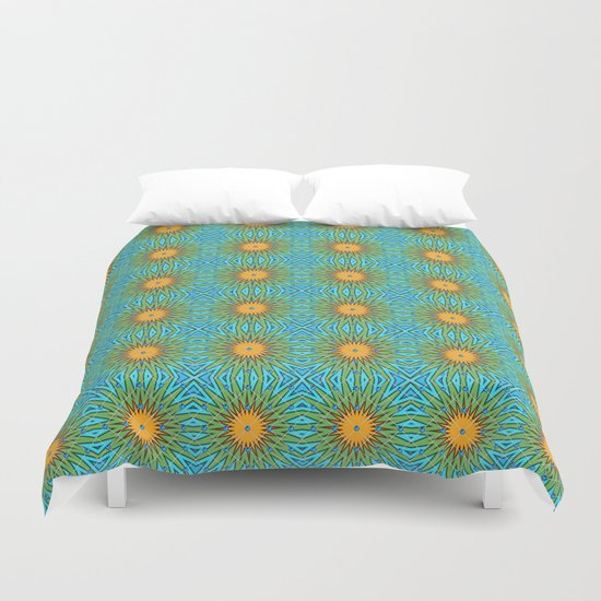 Yellow Salsify Flower Pattern Duvet Cover