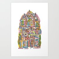 Cubism House Art Print