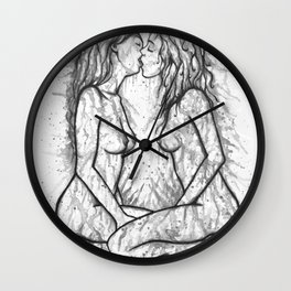 Sexual Energy b&w Wall Clock