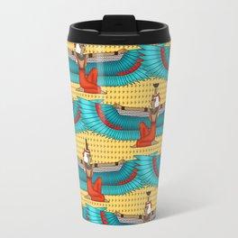 Isis and Nephtys - Turquoise and yellow Travel Mug
