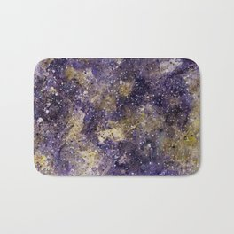 Writings in the Sky the Night Galaxy watercolor by CheyAnne Sexton Bath Mat