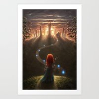 be brave Art Prints featuring Brave by Westling