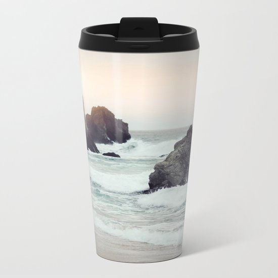 Crashing waves Metal Travel Mug