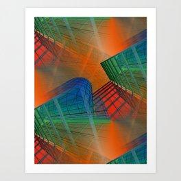 city pattern -3- Art Print
