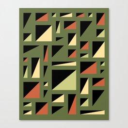 Half Triangle Olive Canvas Print