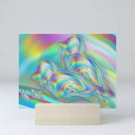 Swirly Birds [Slime Galaxy Collection] Mini Art Print