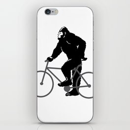 Bigfoot  riding bicycle iPhone Skin