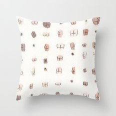 butts Throw Pillow