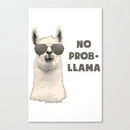 No Problamma Lamma Canvas Print