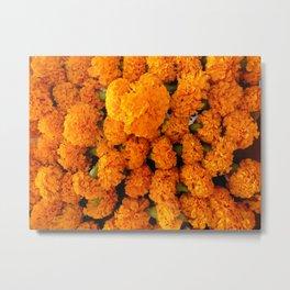 Marigold Florals Metal Print