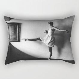 Dancing ballerina on film | Ballet performance in Firenze, Italy | Beautiful art, fine art  Rectangular Pillow