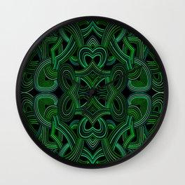 Malahite Green Seamless Design Wall Clock
