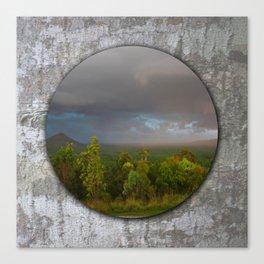 Approaching storm over Australian Landscape Canvas Print