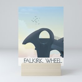 Falkirk Wheel,Scotland travel poster Mini Art Print