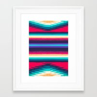 surf Framed Art Prints featuring SURF by Nika