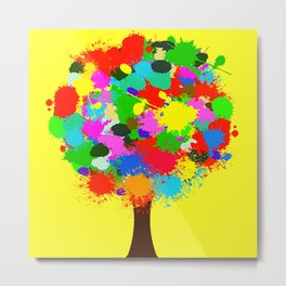 one color tree single version Metal Print